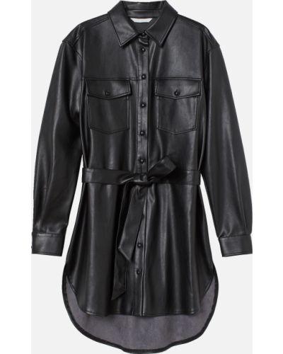 Черная длинная рубашка H&m