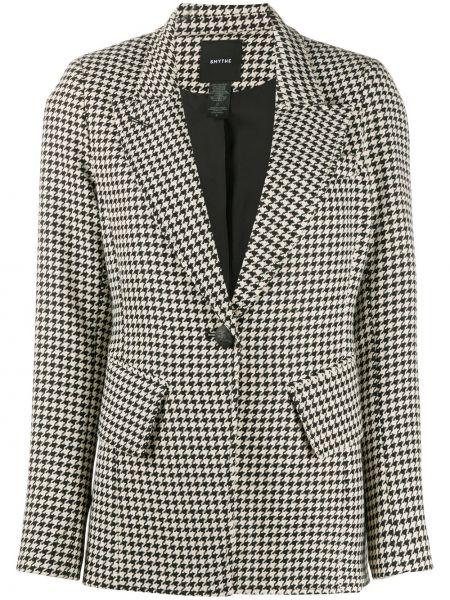 Черный удлиненный пиджак с длинными рукавами из вискозы Smythe