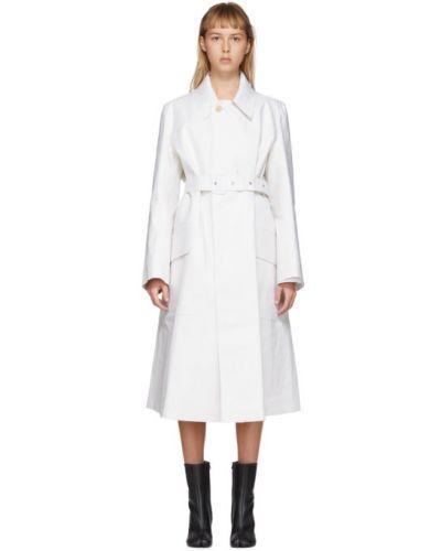 Bawełna długo płaszcz z długimi rękawami z kieszeniami z kołnierzem Maison Margiela