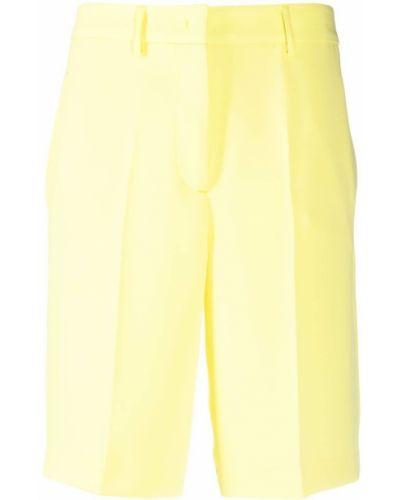 Żółty garnitur z wysokim stanem z paskiem Blanca Vita