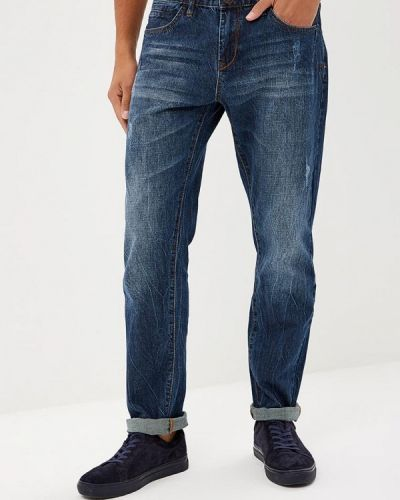 Синие прямые джинсы Sela