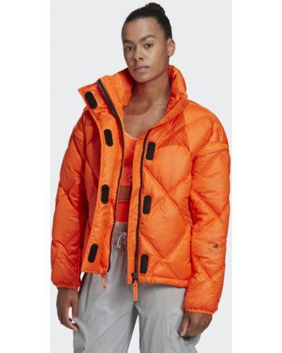 Оранжевая теплая утепленная куртка для фитнеса Adidas