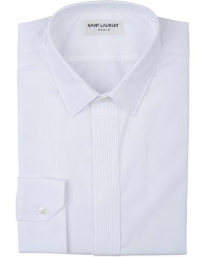 Biała koszula bawełniana Saint Laurent
