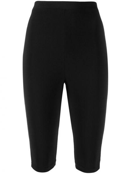 Однобортные облегающие черные шорты Atu Body Couture