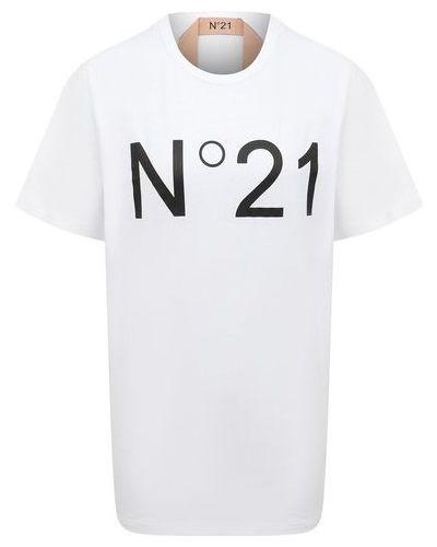 Хлопковая белая футболка N21