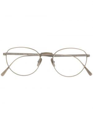 Серебряные очки круглые Persol