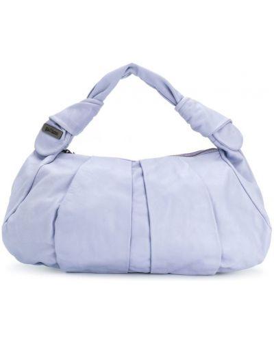 Синяя сумка-хобо John Galliano