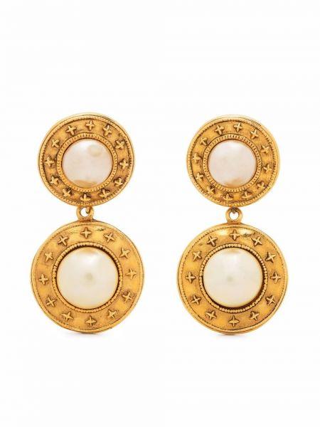 Białe złote kolczyki Chanel Pre-owned