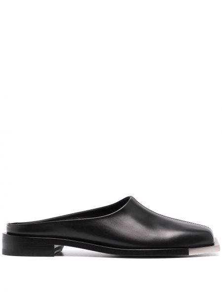 Кожаные черные слипы на каблуке Peter Do