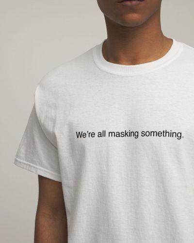 Biały t-shirt Famt - Fuck Art Make Tees