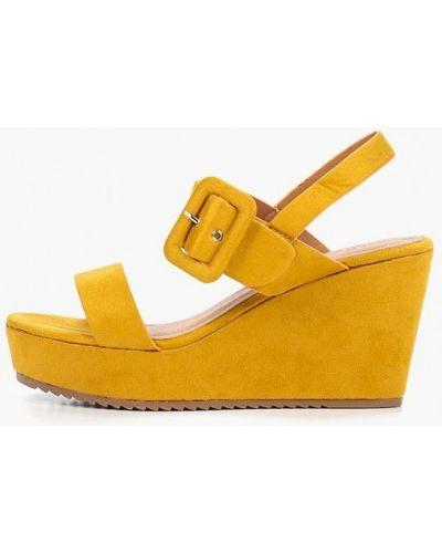 Босоножки желтый на каблуке Catisa