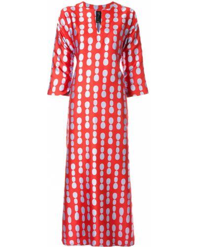 Платье миди в горошек - красное Zero + Maria Cornejo