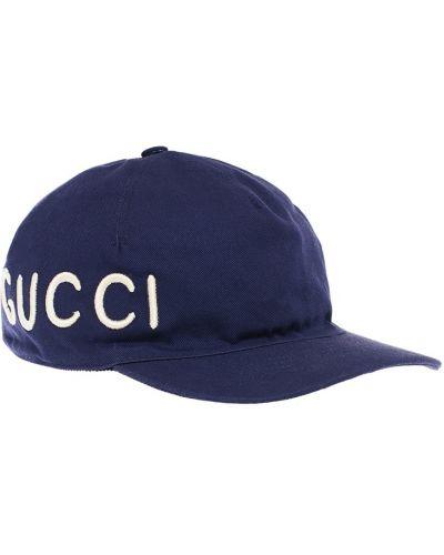 Кепка с вышивкой с надписью Gucci