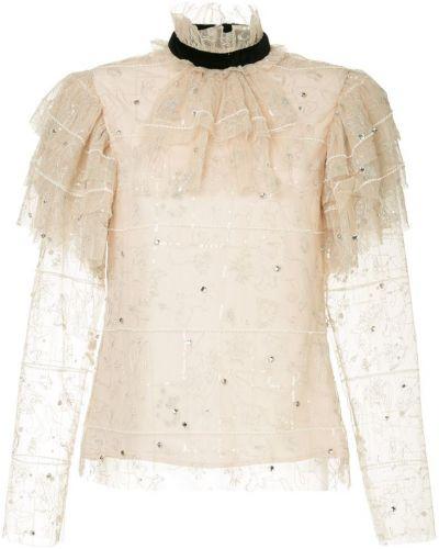 Блузка розовая шелковая Macgraw