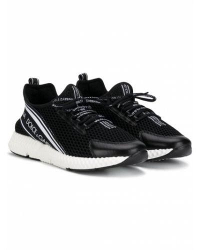 Кожаные слипоны для обуви Dolce & Gabbana Kids