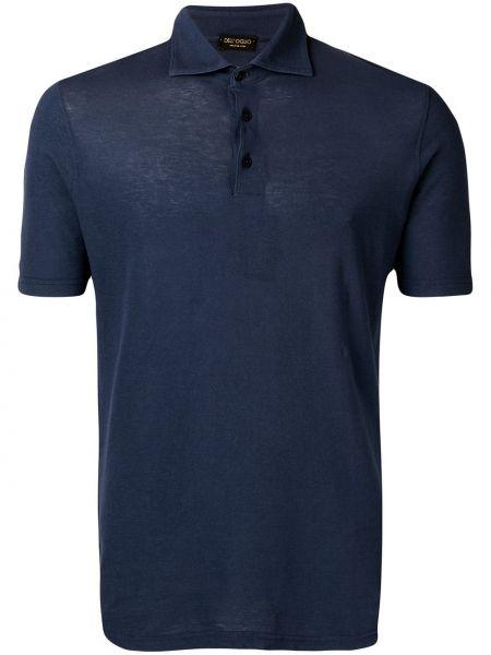 Koszula krótkie z krótkim rękawem prosto z kołnierzem Dell'oglio