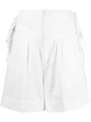 Хлопковые белые шорты с карманами Isabel Marant étoile