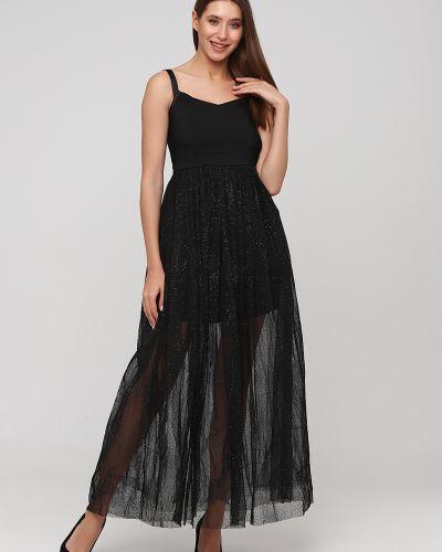 Пышное черное вечернее платье с подкладкой Naf Naf