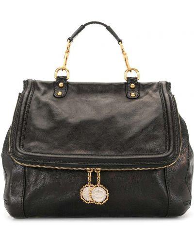 Черная сумка-тоут металлическая на молнии с подвесками Dolce & Gabbana Pre-owned