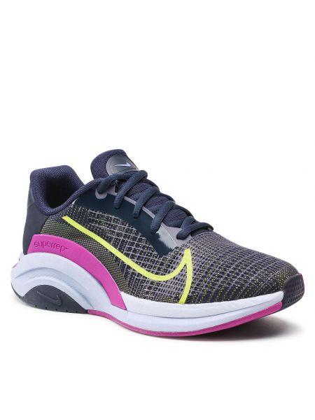 Buty sportowe casual - niebieskie Nike