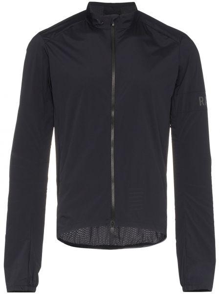 Czarna długa kurtka z nylonu z długimi rękawami Rapha