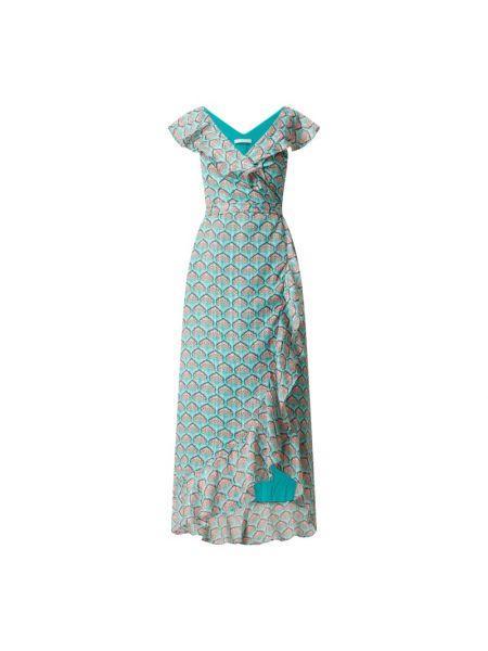 Sukienka rozkloszowana z falbanami z szyfonu Freebird