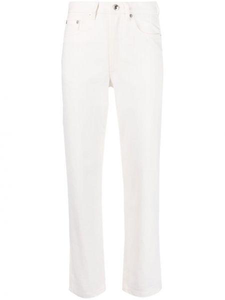 Хлопковые белые укороченные джинсы на пуговицах A.p.c.
