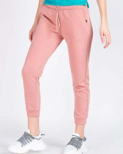 Хлопковые розовые спортивные брюки Samo