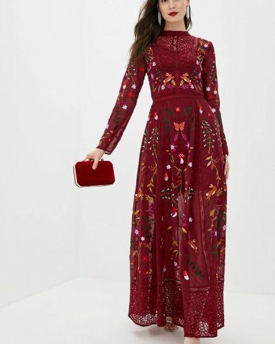 Платье бордовый индийский Frock And Frill