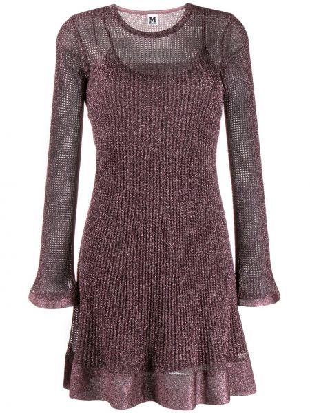 Платье мини розовое с вырезом M Missoni