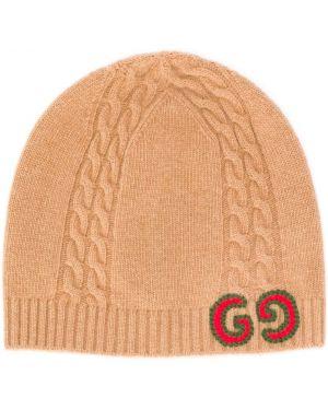 Trykotowy kapelusz z logo zimowy Gucci Kids
