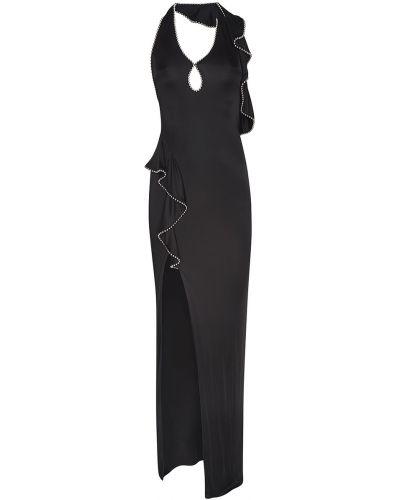 Платье макси с декольте с бисером Alexander Wang