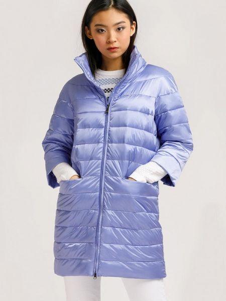 Расклешенная теплая фиолетовая свободная утепленная куртка Finn Flare