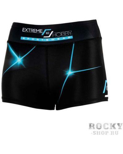 Бирюзовые спортивные шорты на резинке с разрезом Extreme Hobby