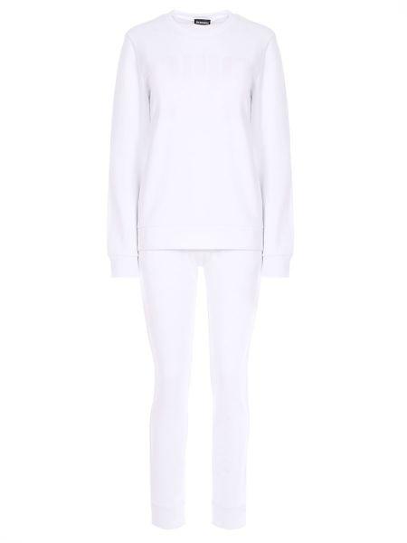 Костюмный белый спортивный костюм с карманами из футера Dirk Bikkembergs
