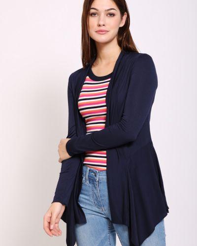 Синий пиджак с воротником с запахом Pezzo