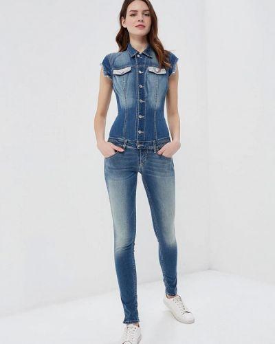 Синий джинсовый комбинезон Met