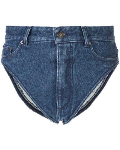 Синие хлопковые с завышенной талией джинсовые шорты Y/project
