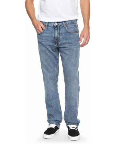 Голубые прямые джинсы Quiksilver