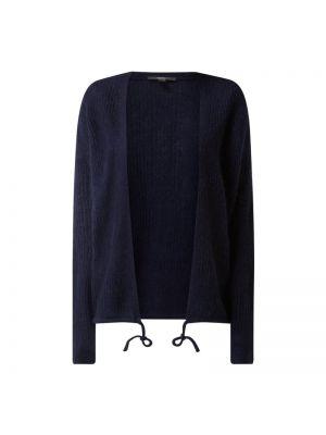 Niebieski kardigan wełniany bez zapięcia Esprit Collection