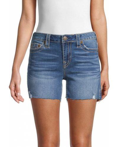 Хлопковые пляжные джинсовые шорты с карманами True Religion