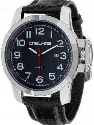 Часы механические водонепроницаемые с кожаным ремешком Слава