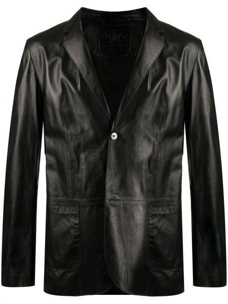 Черный однобортный пиджак на пуговицах со вставками Desa 1972
