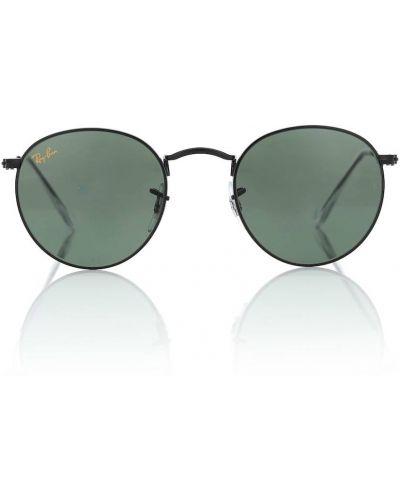 Черные солнцезащитные очки круглые винтажные Ray-ban