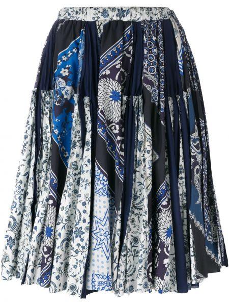 Хлопковая с орнаментом синяя юбка Wunderkind