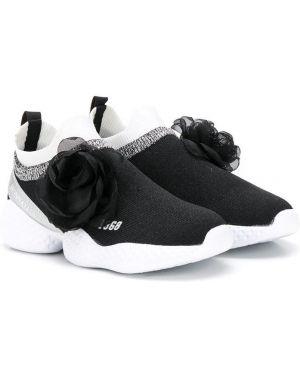 Черные кроссовки на каблуке Monnalisa