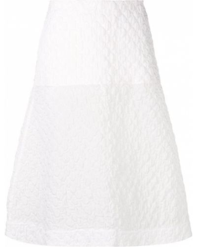 Плиссированная юбка миди с завышенной талией Jil Sander Navy