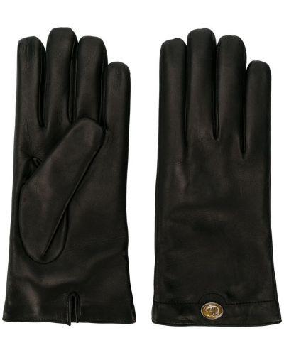 Кожаные перчатки - черные Gucci