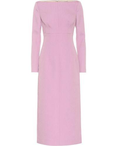 Ватное хлопковое фиолетовое платье миди Emilia Wickstead