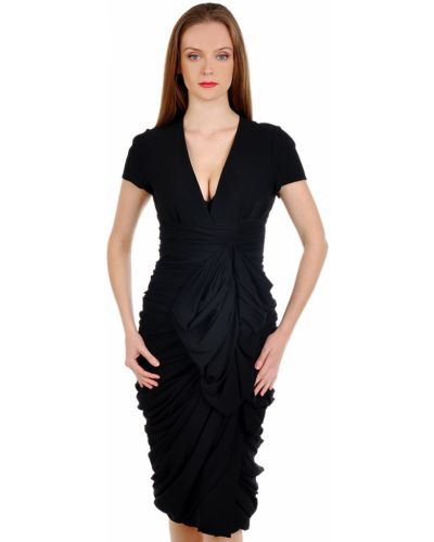 Шелковое платье - черное Burberry Prorsum